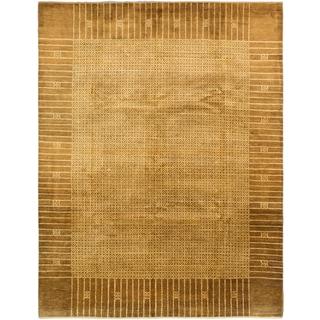 ecarpetgallery Peshawar Ziegler Brown/ Yellow Wool Rug (8'2 x 10'7)