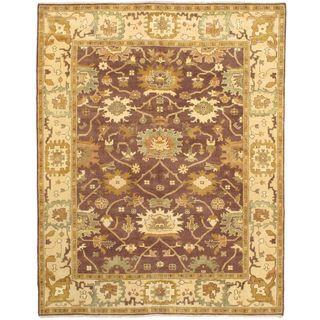 ecarpetgallery Royal Ushak Brown Wool Rug (9'3 x 11'8)