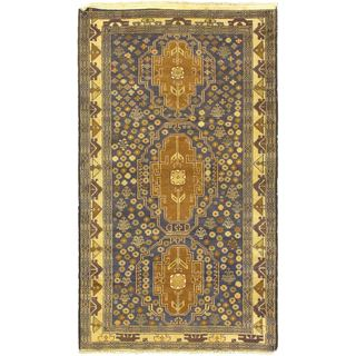ecarpetgallery Khandahar Finest Brown/ Green Wool Rug (3'5 x 6')