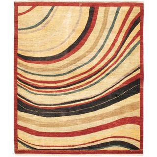 ecarpetgallery Finest Ziegler Chobi Beige Wool Rug (5' x 5'10)