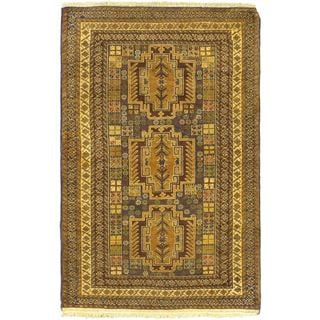 ecarpetgallery Finest Rizbaft Brown Wool Rug (3'3 x 6'7)