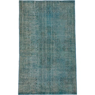 ecarpetgallery Anatolian Overdyed Blue Wool Rug (5'4 x 8'10)