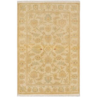 ecarpetgallery Peshawar Oushak Beige Wool Rug (4' x 5'10)