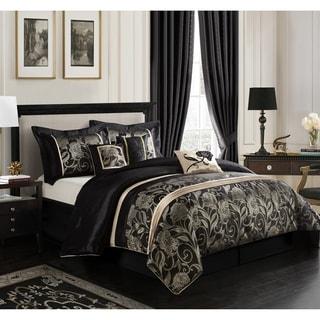 Molybee Jacquard Silver/ Black 7-piece Comforter Set