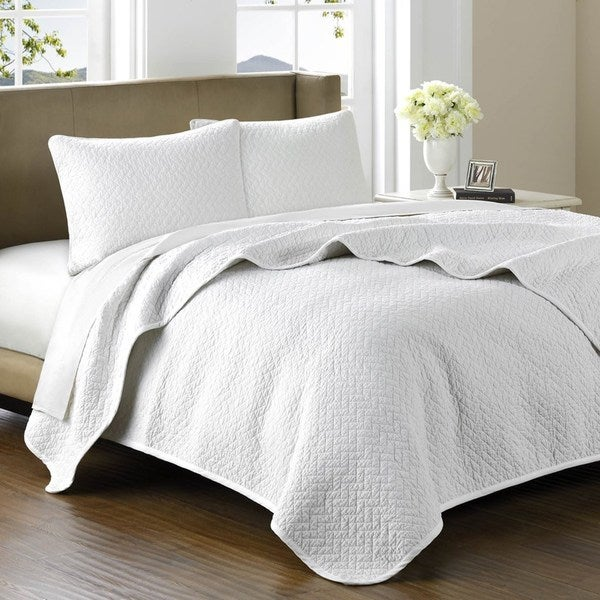 Hampton Hill Belville Luxury Cotton 3-piece Coverlet Set