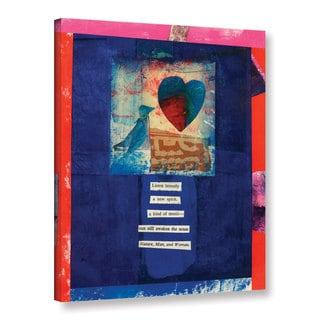 ArtWall Elena Ray 'Bird, Heart, Love' Gallery-wrapped Canvas