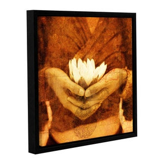 ArtWall Elena Ray 'Lotus' Gallery-wrapped Floater-framed Canvas