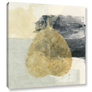 ArtWall Elena Ray 'Wabi-Sabi Bodhi Leaf Collage 3' Gallery-wrapped Canvas
