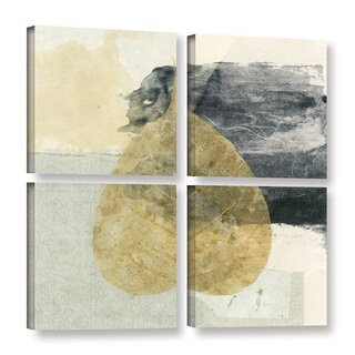 ArtWall Elena Ray 'Wabi-Sabi Bodhi Leaf Collage 3' 4 Piece Gallery-wrapped Canvas Square Set