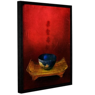 ArtWall Elena Ray 'Wisdom, Happiness, Longevity, Fortune' Gallery-wrapped Floater-framed Canvas