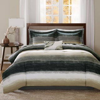 Madison Park Essentials Barret Taupe Complete Comforter and Cotton Sheet Set (5 options available)