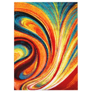 Home Dynamix Splash Collection Multi-Colored Machine Made Polypropylene Area Rug (5'2 x 7'2)
