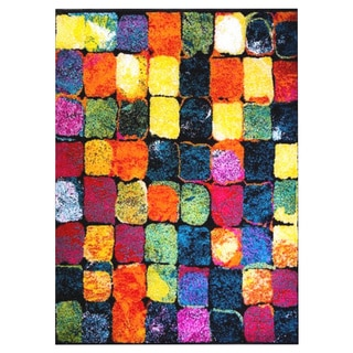 Home Dynamix Splash Collection Contemporary Multi-Colored Area Rug (5'2 x 7'2)
