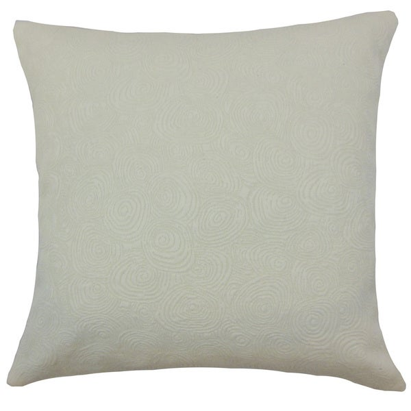 Bay Graphic Grey Down and Feather-filled 18-inch Throw Pillow