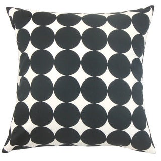 Zooey Polka Dot Down and Feather-filled 18-inch Throw Pillow