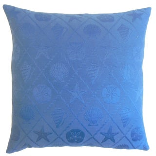 Naeva Blue Outdoor Down and Feather-filled 18-inch Throw Pillow