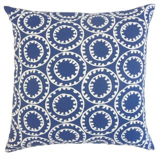 Gaerwn Geometric Down and Feather-filled 18-inch Throw Pillow