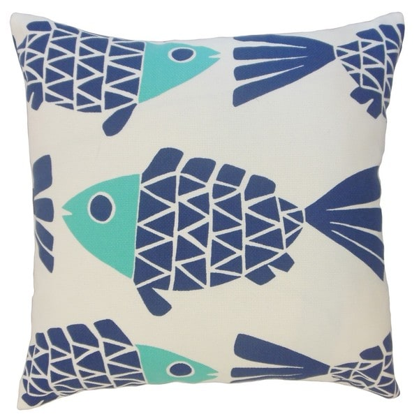 Edana Graphic Down and Feather-filled 18-inch Throw Pillow