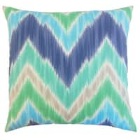 Daemyn Outdoor Down and Feather-filled 18-inch Throw Pillow