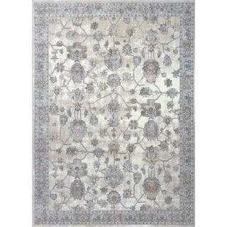 Home Dynamix Airmont Collection Traditional White Area Rug (7'10 X 10'2)