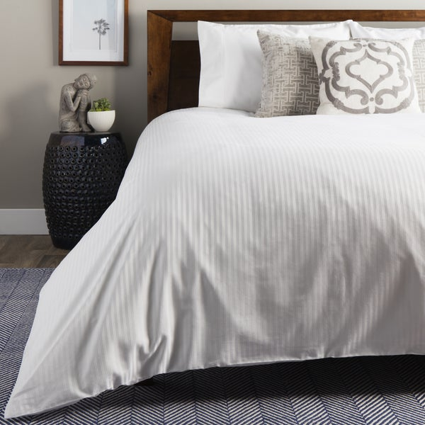 Great Brielle 100 Percent Egyptian Cotton Sateen 630 Thread Count Duvet Cover