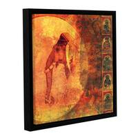 ArtWall Elena Ray 'Buddhist Elephant' Gallery-wrapped Floater-framed Canvas - Multi