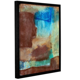 ArtWall Elena Ray 'Earth Tone Abstract' Gallery-wrapped Floater-framed Canvas