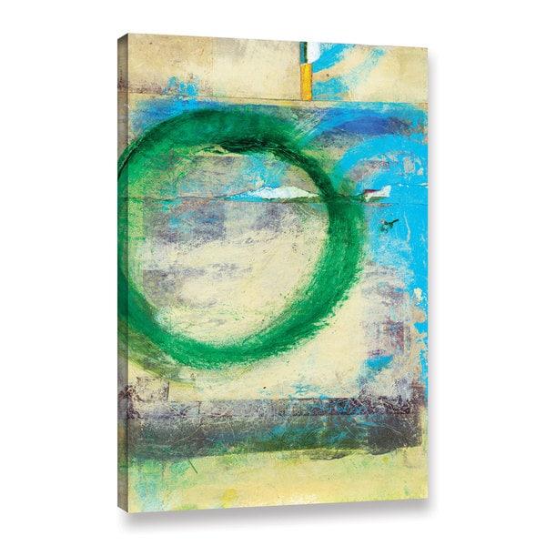 ArtWall Elena Ray 'Green Circle' Gallery-wrapped Canvas - Multi