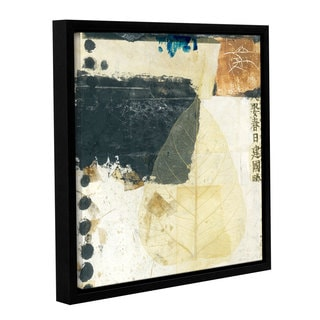 ArtWall Elena Ray 'Wabi-Sabi Bodhi Leaf Collage 2' Gallery-wrapped Floater-framed Canvas