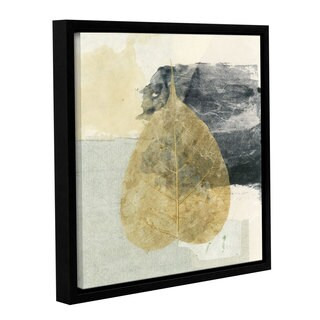 ArtWall Elena Ray 'Wabi-Sabi Bodhi Leaf Collage 3' Gallery-wrapped Floater-framed Canvas