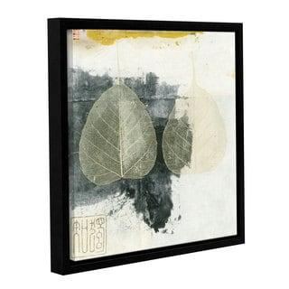 ArtWall Elena Ray 'Wabi-Sabi Bodhi Leaf Collage 4' Gallery-wrapped Floater-framed Canvas