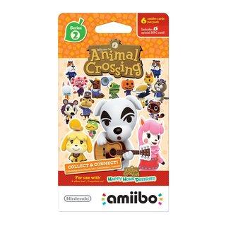 Nintendo Animal Crossing Cards 6 Pack Series 2