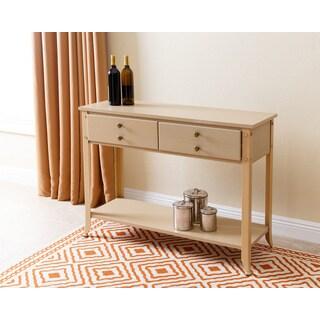 Abbyson Antoni Antiqued 4 Drawer Console Sofa Table, Beige