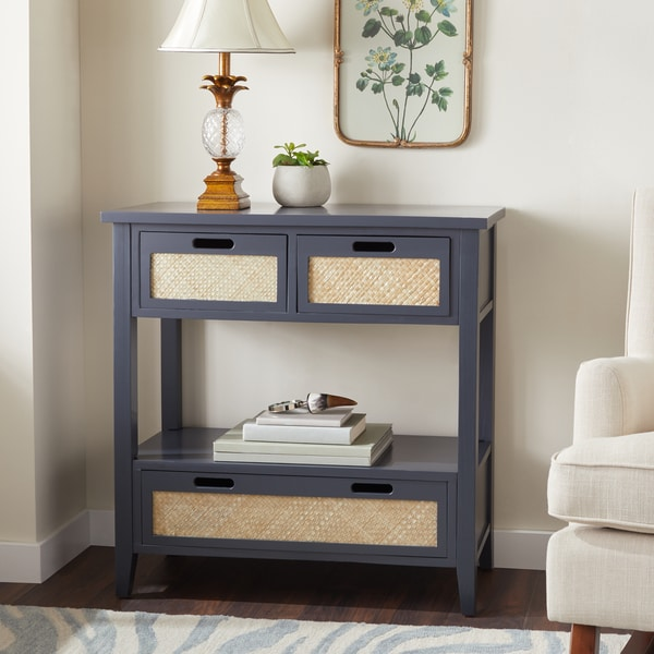 Shop The Gray Barn Romney Road Antiqued Console Sofa Table, Charcoal ...