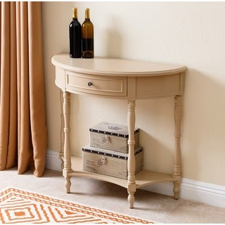 ABBYSON LIVING Pierre Antiqued Console Sofa Table, Beige