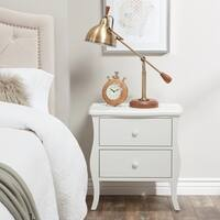 Abbyson Belvedere Antiqued 2 Drawer Table, White