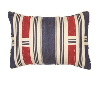 Caleb Blue Throw Pillow