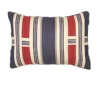 Caleb Blue Throw Pillow