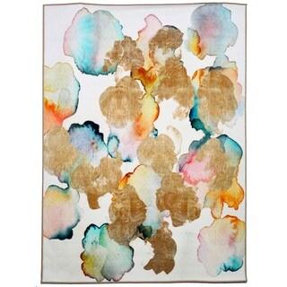 Oliver Gal Rose Gold Garden Rug (5' x 8')