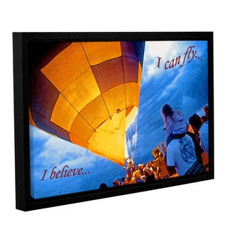ArtWall Linda Parker 'I Believe I Can Fly' Gallery-wrapped Floater-framed Canvas