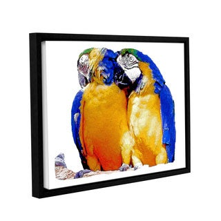 ArtWall Linda Parker 'Parrot Passion 1' Gallery-wrapped Floater-framed Canvas