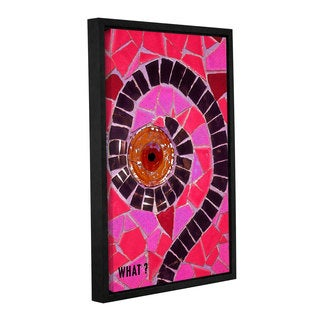 ArtWall Linda Parker 'What' Gallery-wrapped Floater-framed Canvas