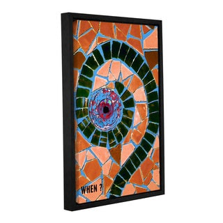ArtWall Linda Parker 'When ' Gallery-wrapped Floater-framed Canvas