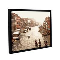 ArtWall Linda Parker '3 Gondolas - Venice ' Gallery-wrapped Floater-framed Canvas - Multi