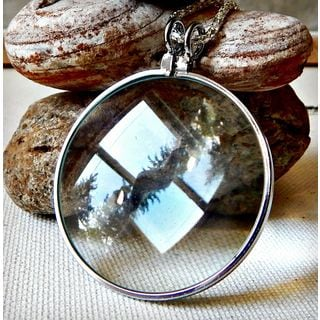 Silver Magnifying Necklace