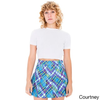 American Apparel Women's Printed Tennis Skirt