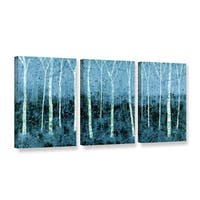 ArtWall Herb Dickinson's Aspen Abstract, 3 Piece Gallery Wrapped Canvas Set