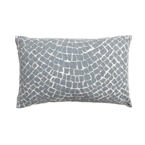 Cobblestone Blue Throw Pillow - Free Shipping Today - Overstock.com - 18102909
