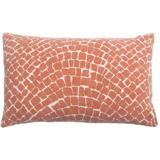 Cobblestone Copper Throw Pillow