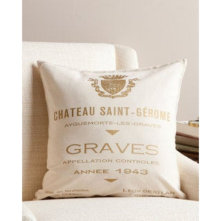 Chateau Saint Gerome 20-inch Throw Pillow